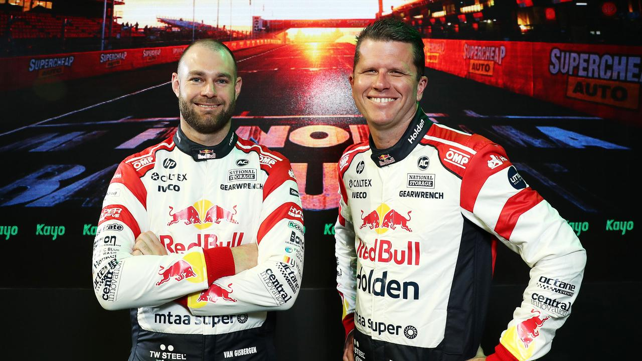 Red Bull Holden Racing team's Shane van Gisbergen and Garth Tander. Picture: Tim Hunter.