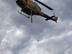 Bushfire Laidley: Chopper filling up with water
