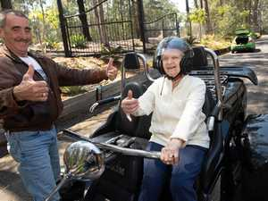 103 year old Dorothy goes on a trike ride. 04 OCT