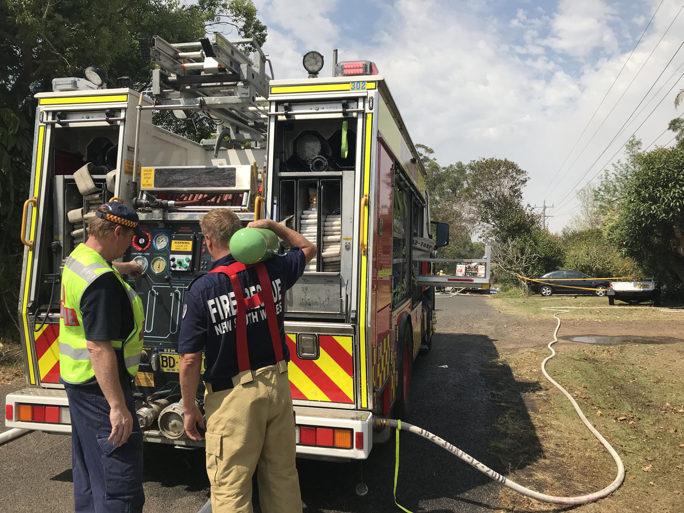 Fire destroyed a home at Coraki this morning.