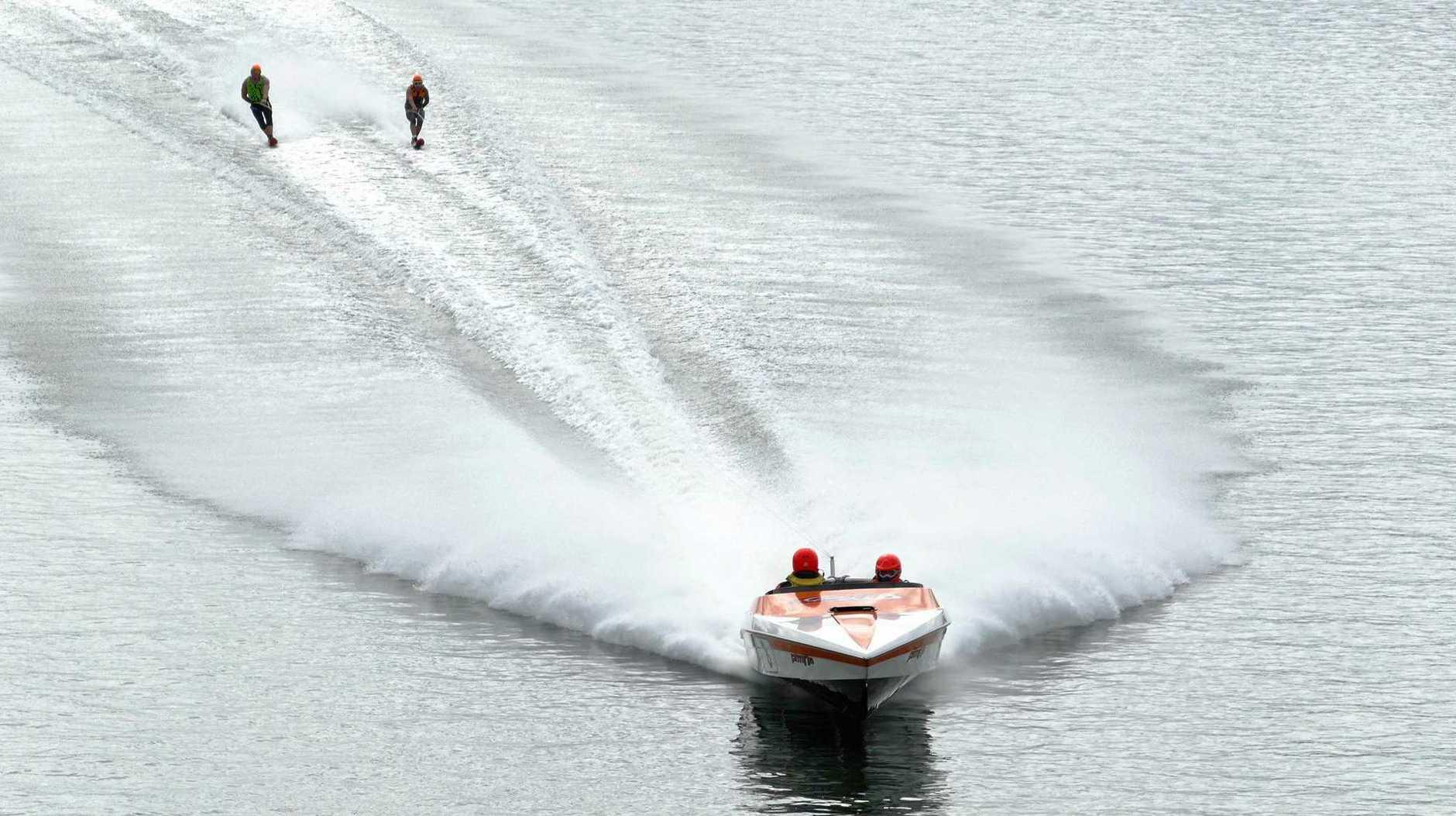 Boats hit speeds of more than 190km/h during the 2019 Grafton Bridge to Bridge Ski Classic.