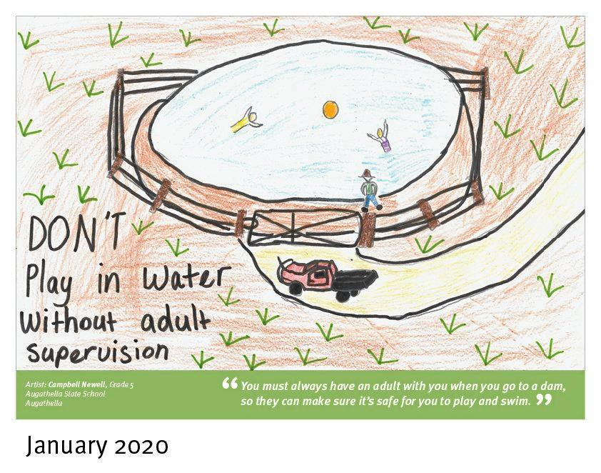 FARM SAFE: Campbell Newell's drawing  is the picture for January in the 2020 Farm Safety Calendar.