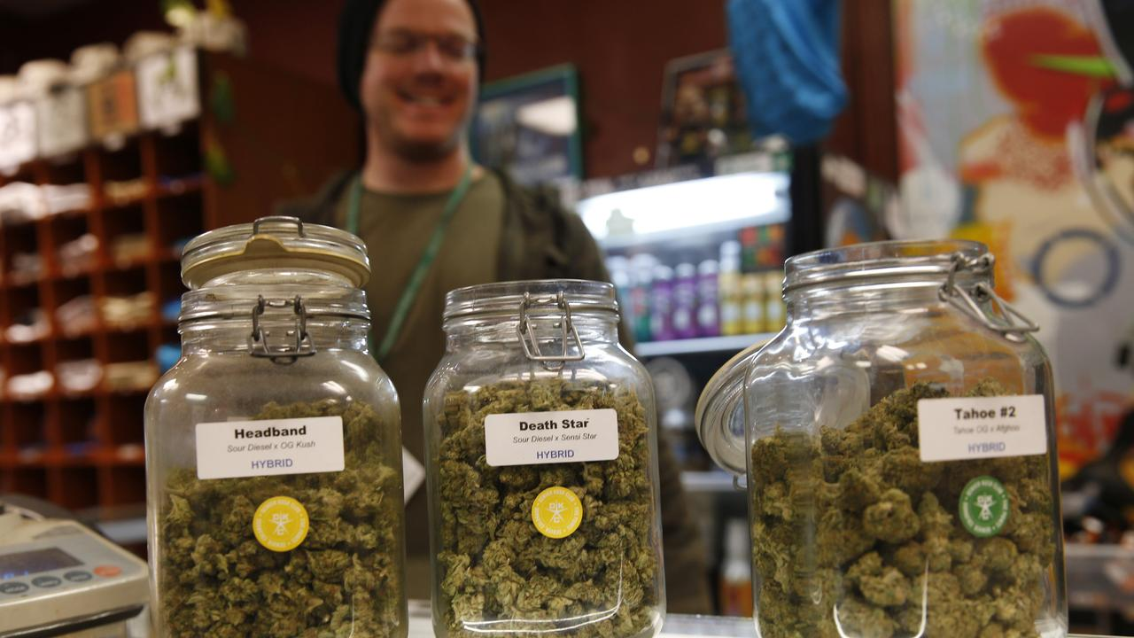 Anti-weed activists say violent crimes have increased in states like Colorado. Picture: AP Photo/Dave Zalubowski