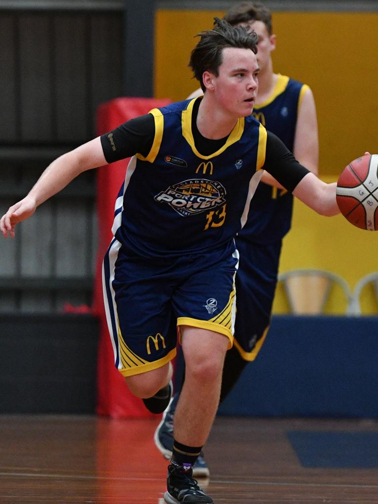 Gladstone Power's Riley Dredge in the under 18s first game of the Central Queensland Junior Basketball Carnival on Saturday October 5.