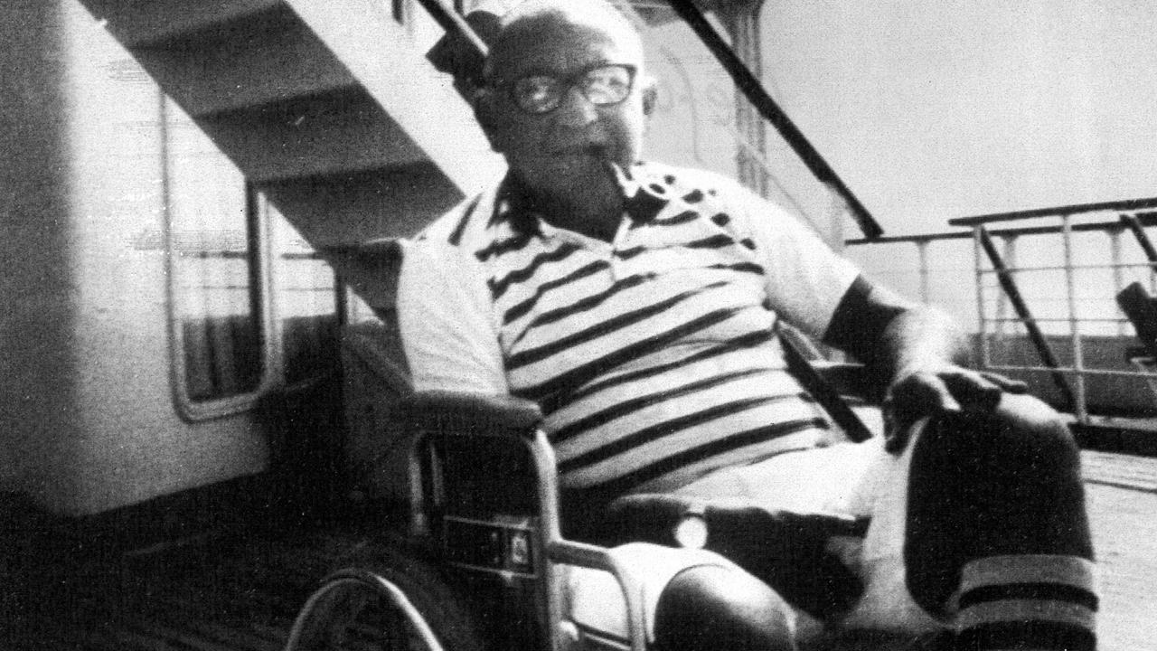American tourist Leon Klinghoffer, who was murdered by hijackers of the Italian cruise ship Achille Lauro on this day in 1985.