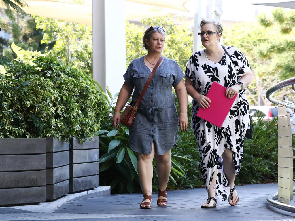 Donna Baluskas and Laura Lawson who are involved in a legal dispute with Mt Tamborine State School Principal Tracey Brose. Picture: Jason O'Brien