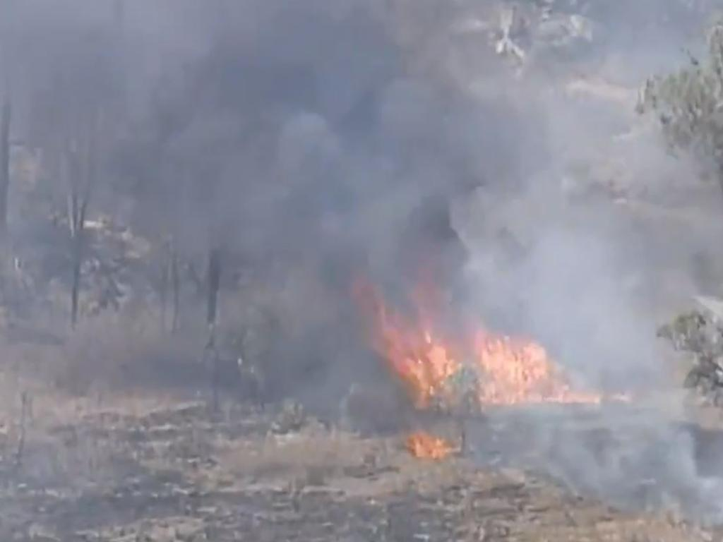 Residents have been told to flee the area. Picture: Nine News/Channel 9