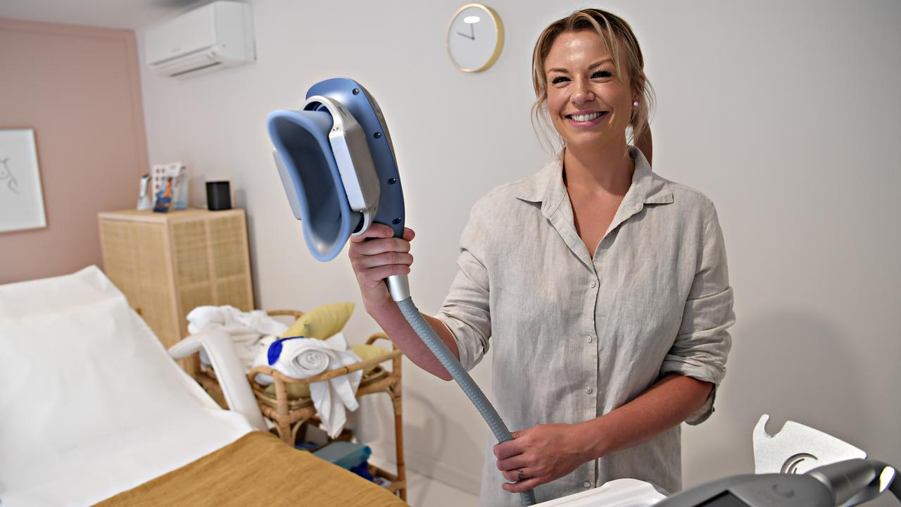 FREEZE: Jessica Callaghan operating Peche Medispa at Mooloolaba. Photo: Warren Lynam