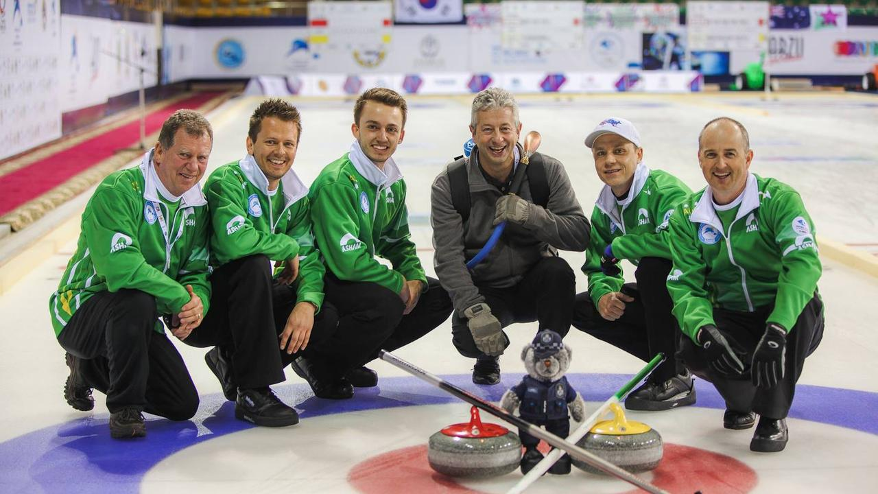 Jay Merchant (second from right) will represent Australia at the 2019 Pacific-Asia Curling Championships in Shenzhen, China.