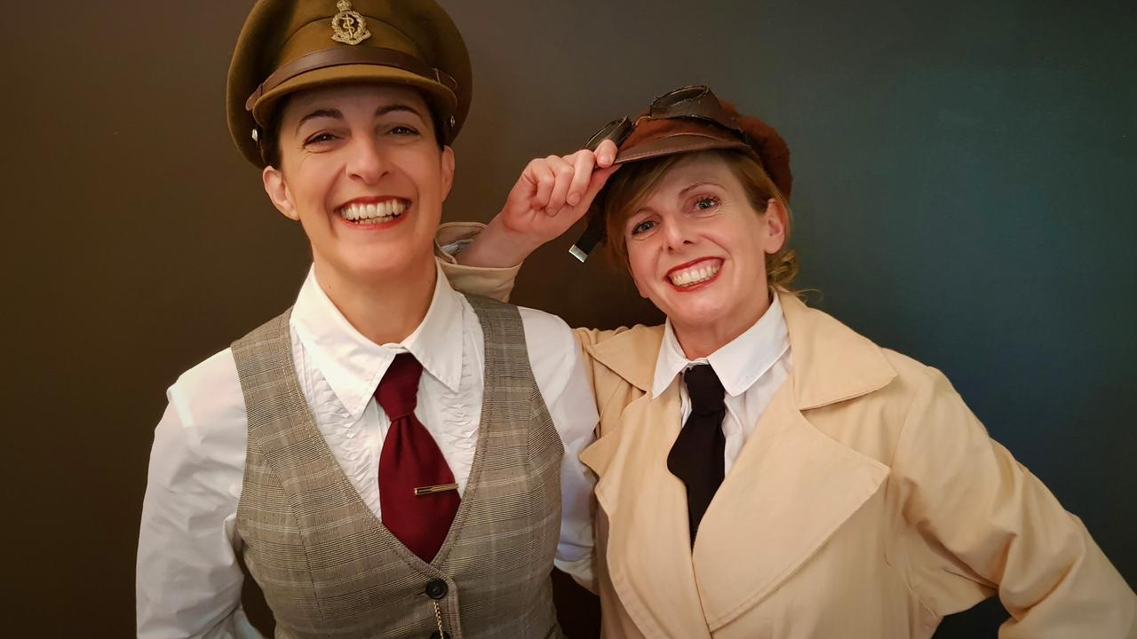 A Girl's Guide to World War composer Aleathea Monsour (left) and writer Katy Forde. Picture: Contributed