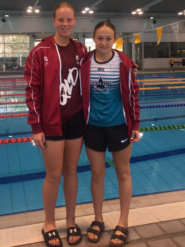 Fellow CQ Swimmer Taryn Roberts from Rocky City Swim Club