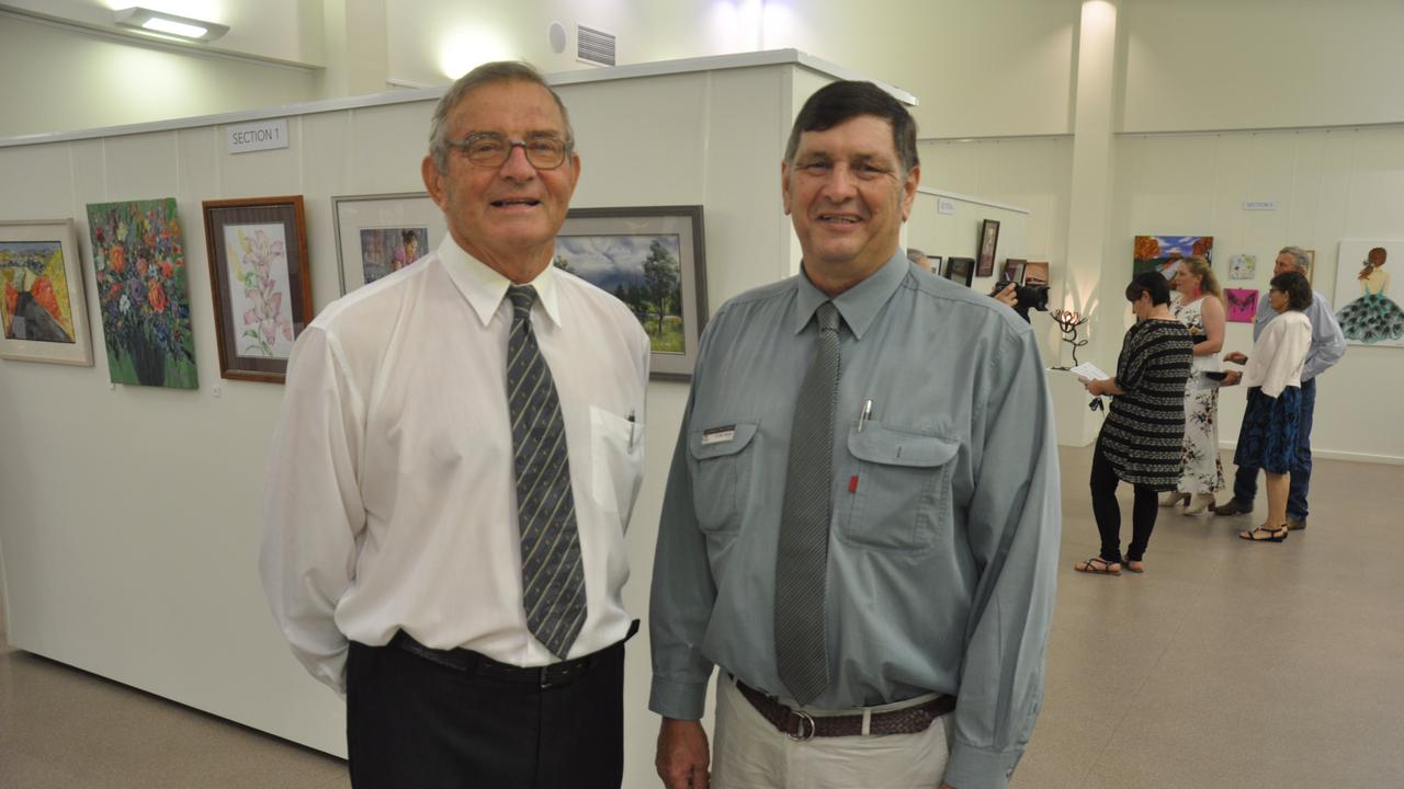TOP NOTCH: President of the Banana Shire Art Gallery Association Alan McTaggart, here with Banana Shire Council Mayor Nev Ferrier, says this year's Brigalow Arts Festival will be high quality.
