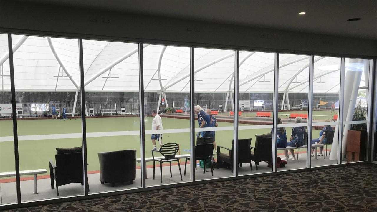 Excitement is building at Club Mooloolaba with repairs to the main bar section of the club to finish this week. The main bar area has been extended to include a glass enclosed viewing area. Picture: Contributed