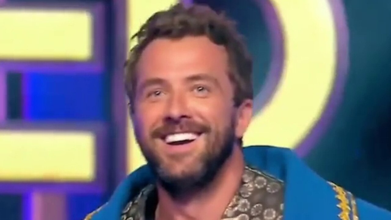 Darren McMullen on The Masked Singer. Picture: Ten