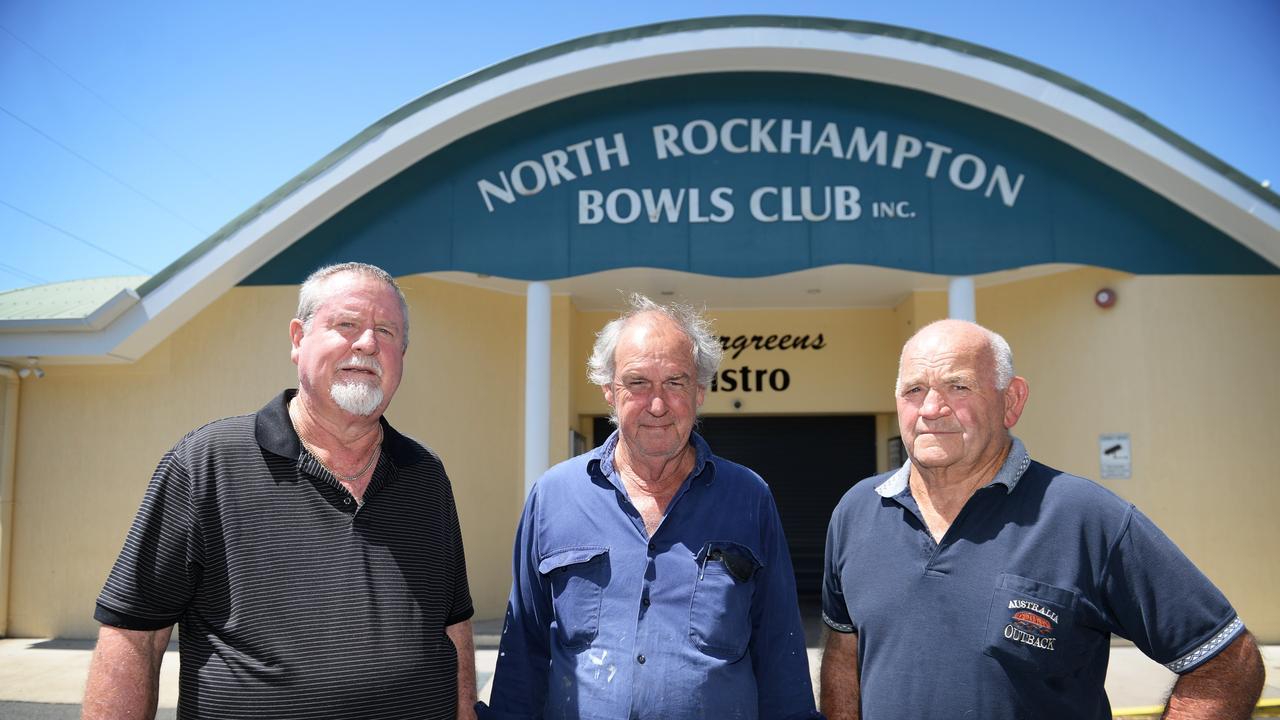 North Rockhampton Bowls Club's Allan Gabel, John Shepard and George Ingham.