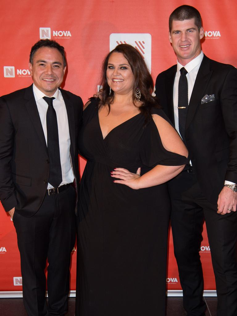 Nova's Sam Pang, Chrissie Swan and Jonathan Brown.