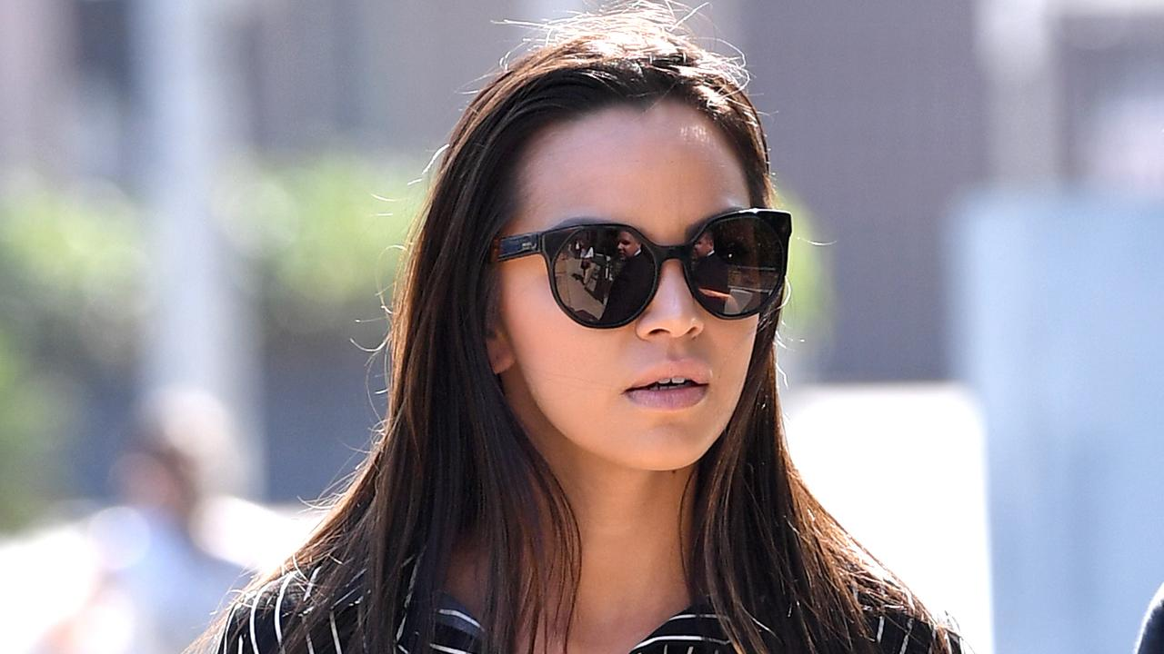 Danielle Lee claims Scott McGregor yelled abuse as she walked away. She's accused of assault. Picture: Dave Hunt/AAP