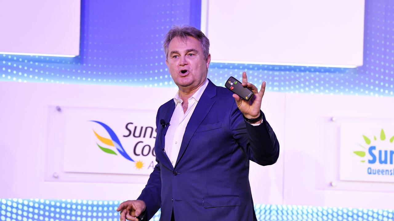 Bernard Salt speaks at Future Tourism, Sunshine Coast Convention Centre. Photo Patrick Woods / Sunshine Coast Daily.