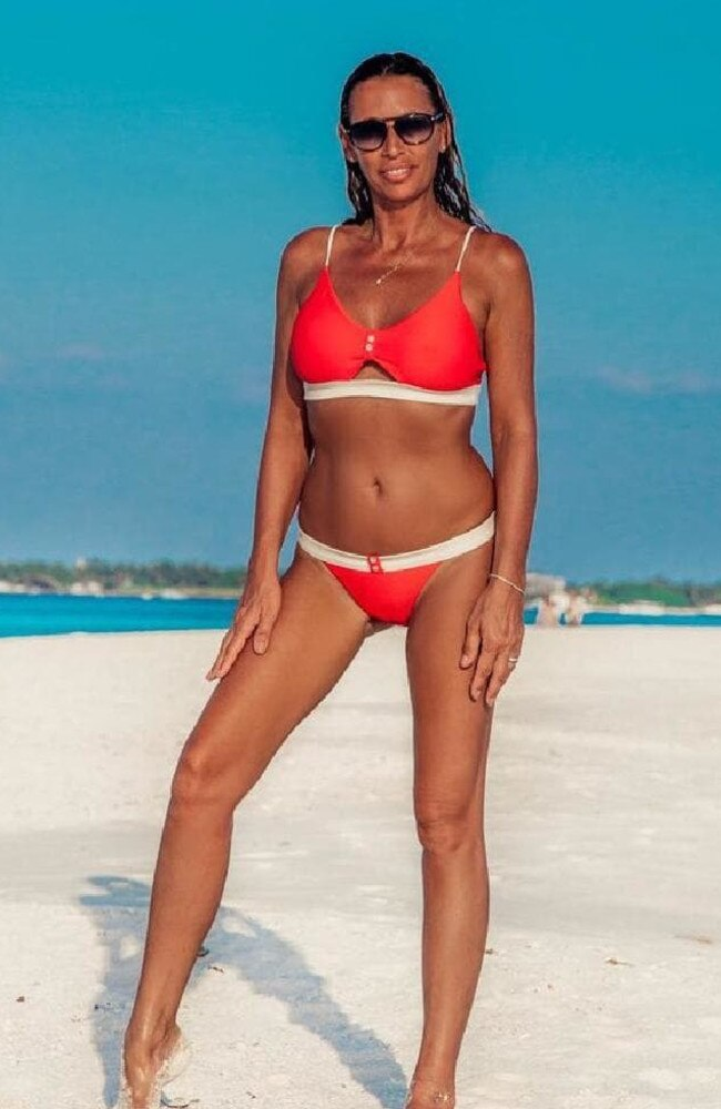 Grandmother of two and reality TV star Suzie Wells posted a bikini snap showing off her fit figure at 50 that people went crazy for. Picture: Instagram / Suzie Wells