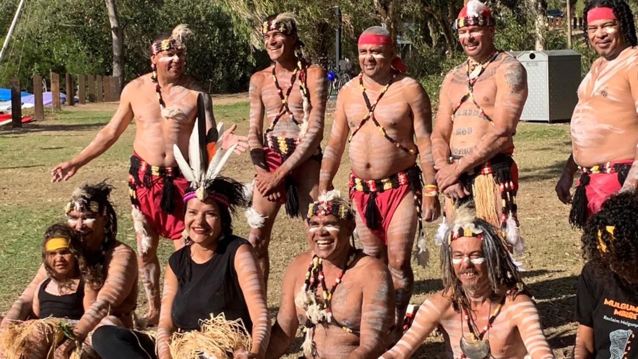 Cherissma pictured with Quandamooka/Nunukul Clan/Tribe.