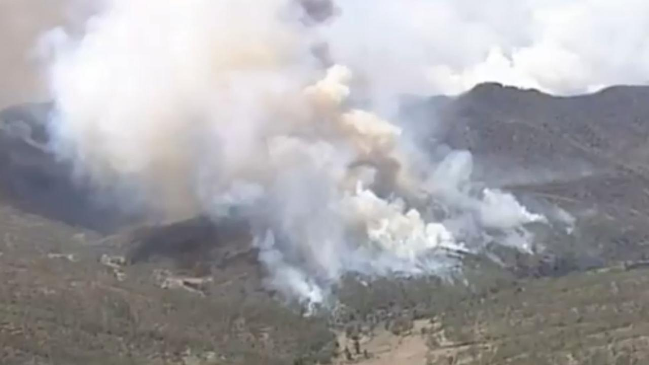 Residents told to leave immediately as bushfire threatens homes. Picture: Nine News/Channel 9