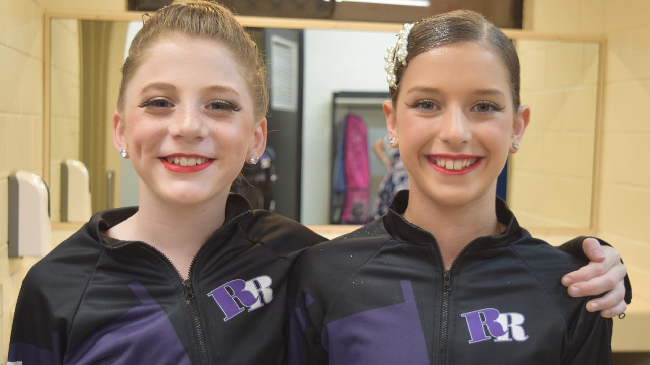Lauren Gray, 10, and Elizabeth Zurvas, 10, from Roby Rogers School of Dancing.