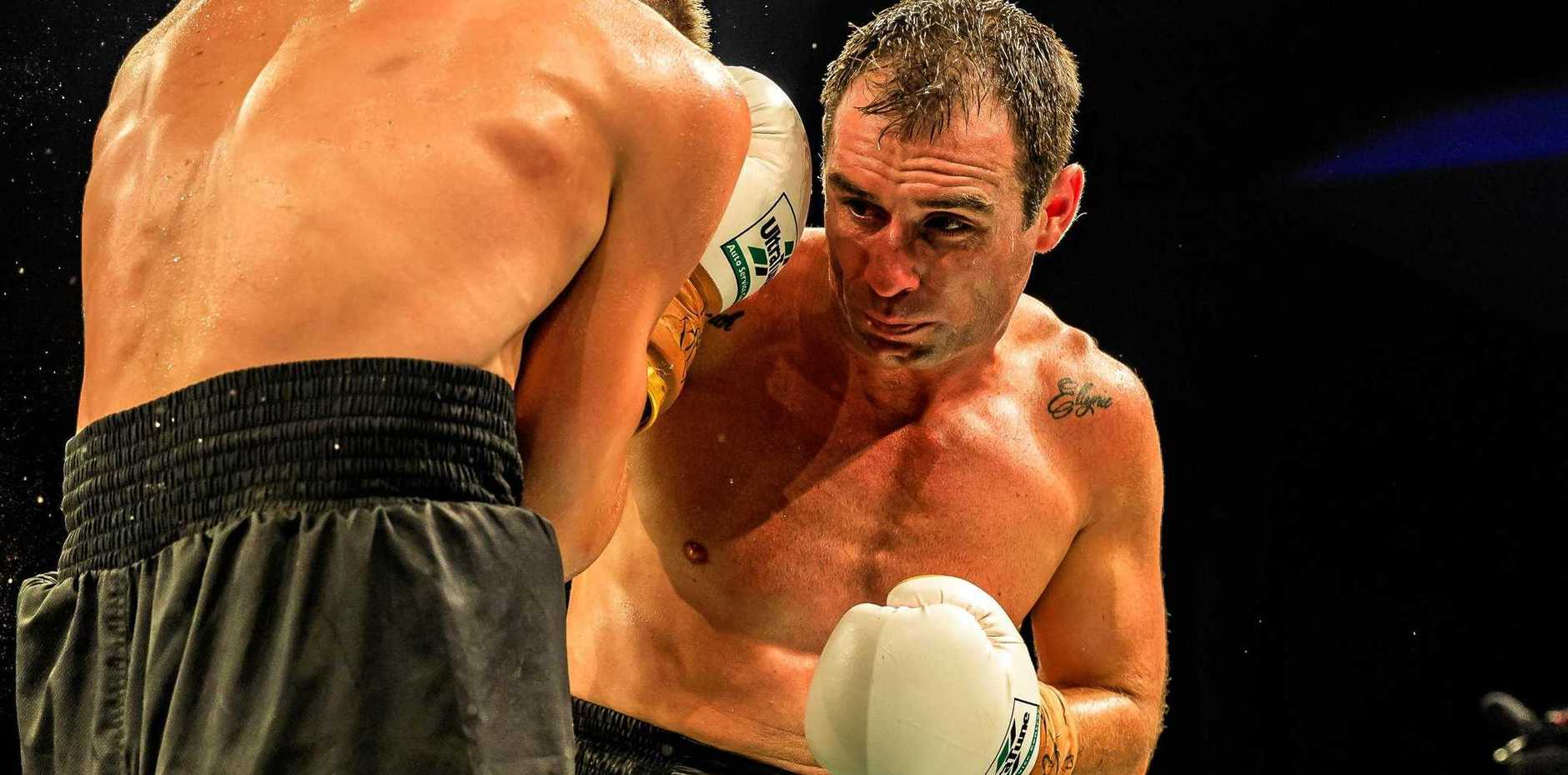 IT'S BOUT TIME: Grafton boxer Adam Stowe fighting for the for the NSW League Boxing light heavyweight state title against Mitchell Whitelaw at Boxingmania 4 fight night.