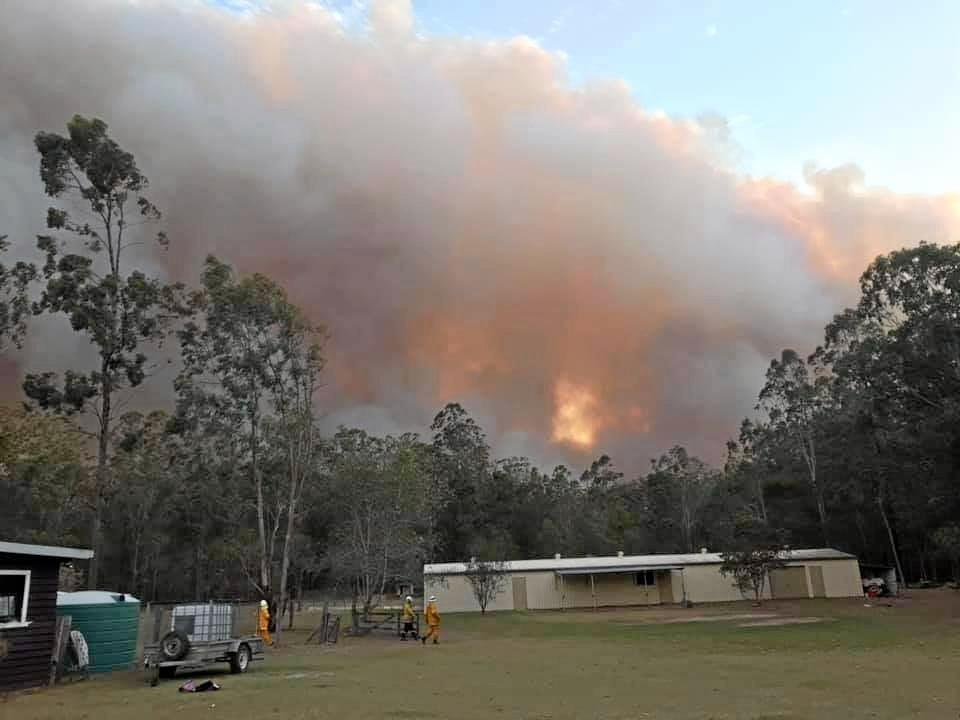 SOCIAL MEDIA IMAGE DISCUSS USE WITH YOUR EDITOR - Crews from the Kyogle RFS helped out at the Rappville bushfire.
