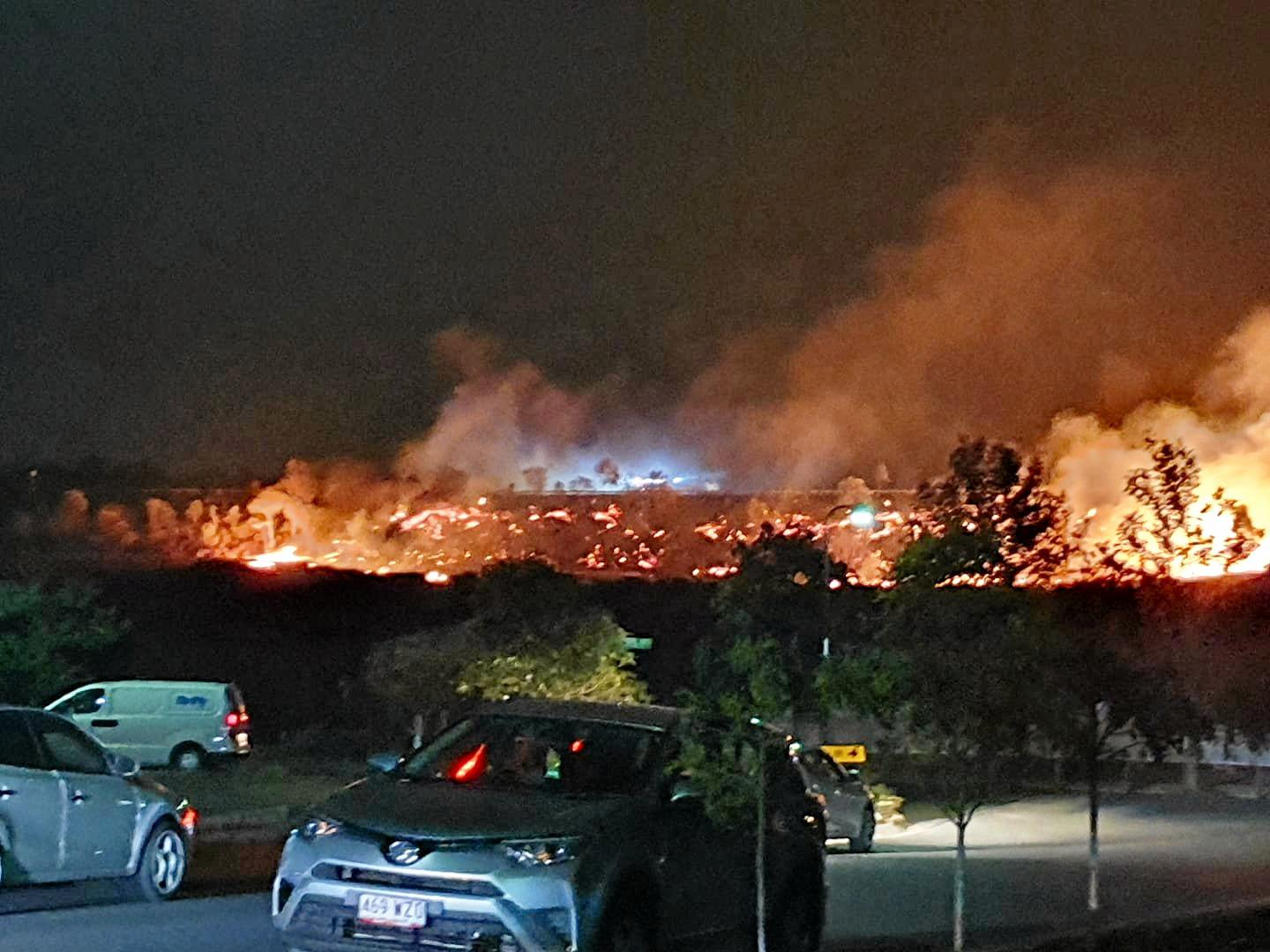 Reader contributed photos of the shocking fires last night around the South Ripley and Providence estate area.