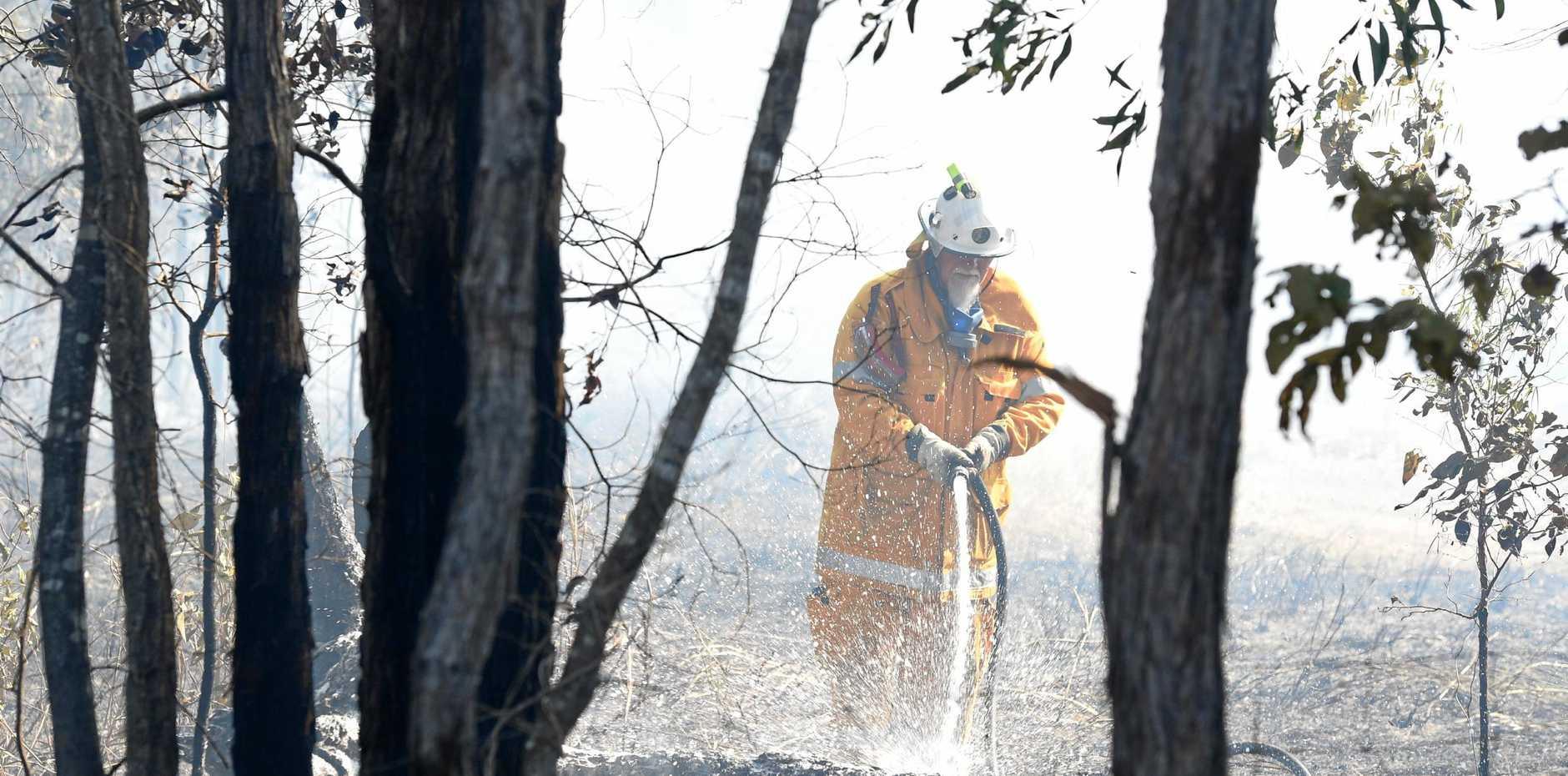 A bushfire is still burning at Cherwell.