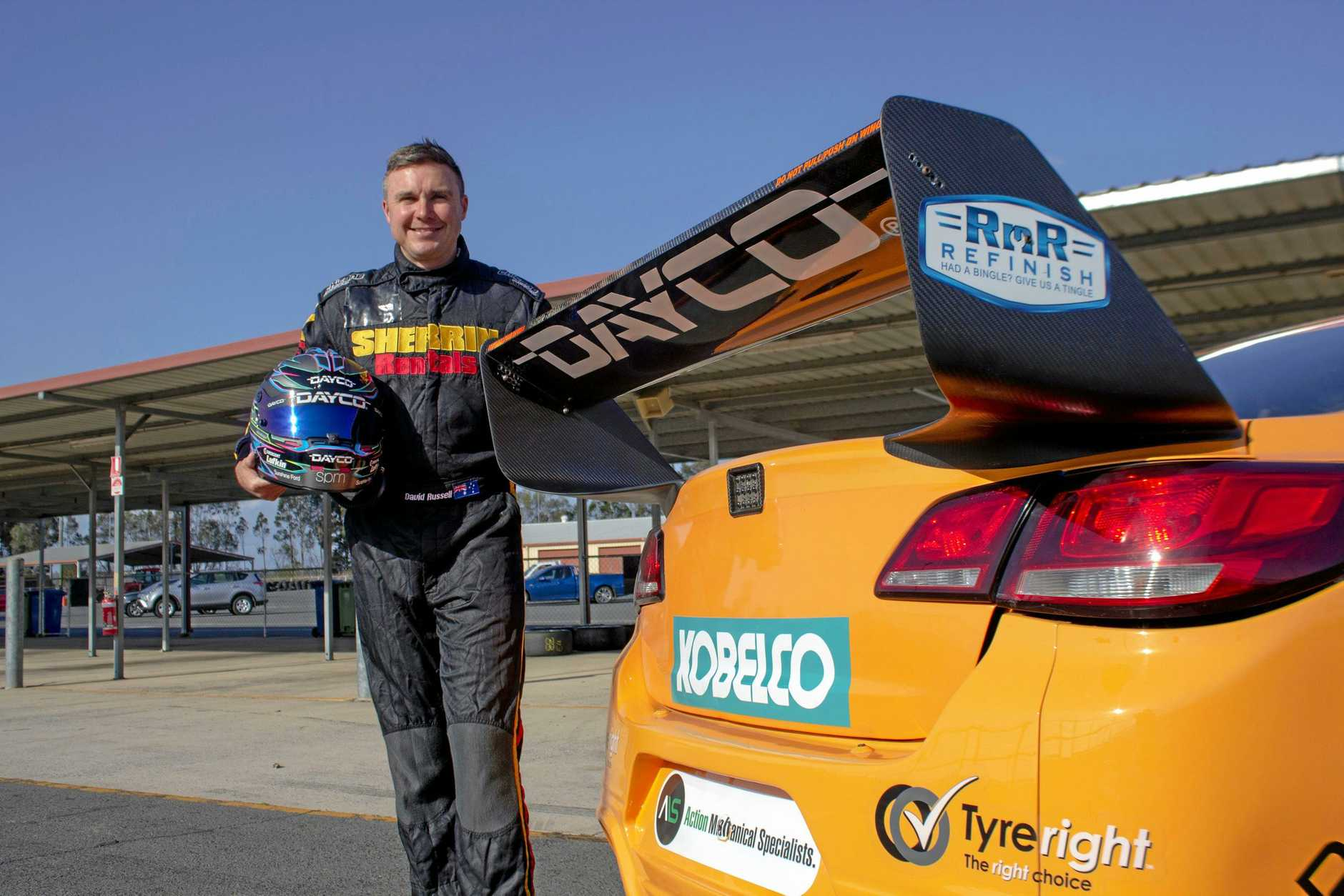 REVVED UP: David Russell will race in the 250km Dunlop Super2 Series race at Bathurst this weekend.