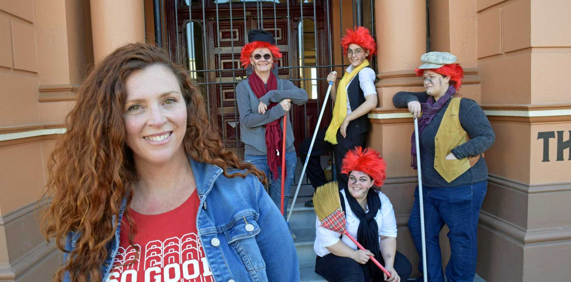 Authentic redhead and partnerships manager of Fraser Coast Tourism and Events Maureen Murphy (left) with (from left) Lynda Eggerling, Sarah Callander, Chasca Thompson and (seated) Katanee Draheim looks forward to encouraging the region to vote for a Redhead Festival as part of Wotif's Festival of Wot?