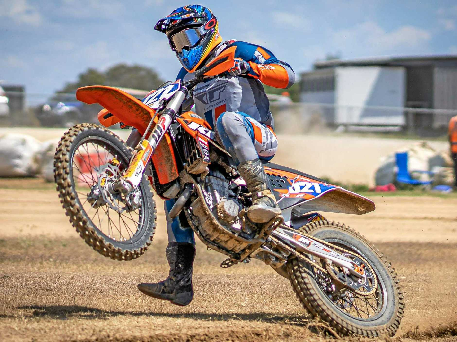 TRIPLE CHAMP: Six weeks and 1200 kilometres apart, the outcome was the same as Gympie rider Jarred Brook scored three class wins at the 2019 Australian Senior Dirt Track Championships at Barleigh Ranch over the weekend.