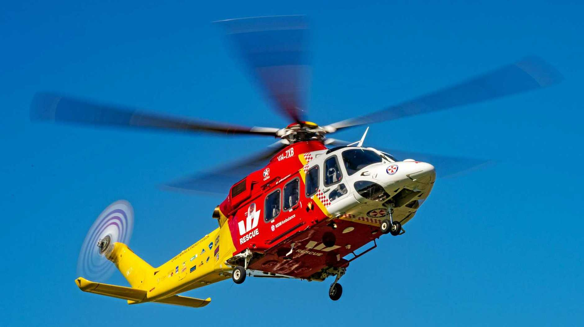 BREAKING NEWS: The Westpac Rescue Helicopter is on scene at Ocean Shores following a crash.