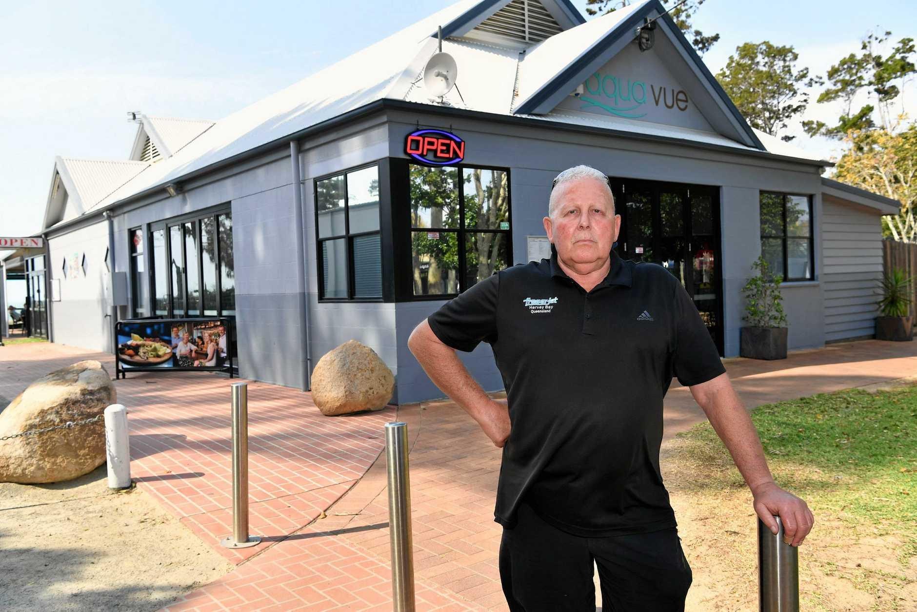 Aquavue break-in - owner Larry Burch.