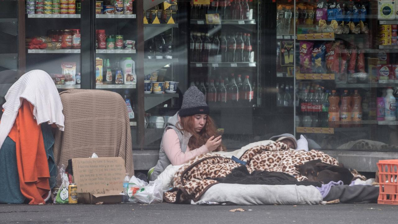 A large number of homeless people are seeking housing in Melbourne.