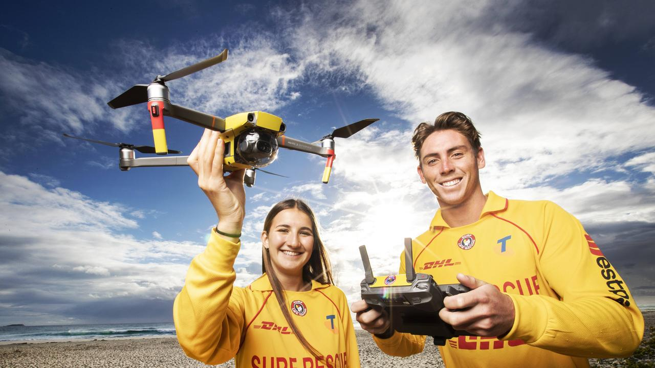 BEACH SAFETY: Surf Life Saving NSW is on the hunt for drone pilots in the Tweed Shire who are keen to patrol the beach from the sky. Picture: NIGEL HALLETT
