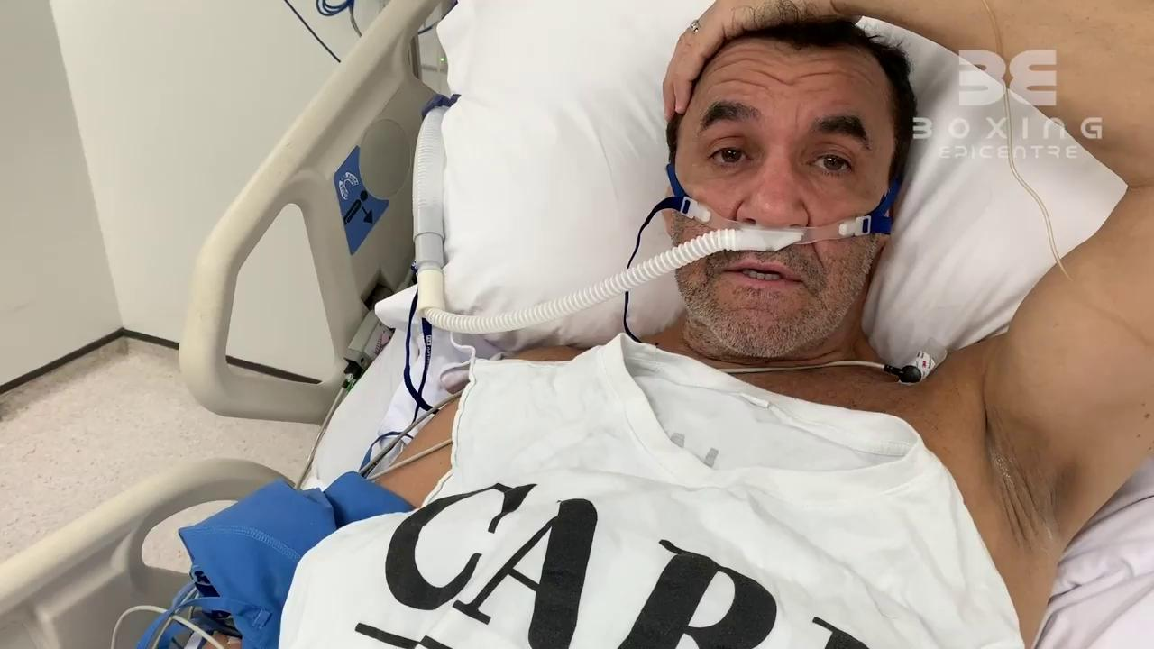 Jeff Fenech in hospital in Thailand.