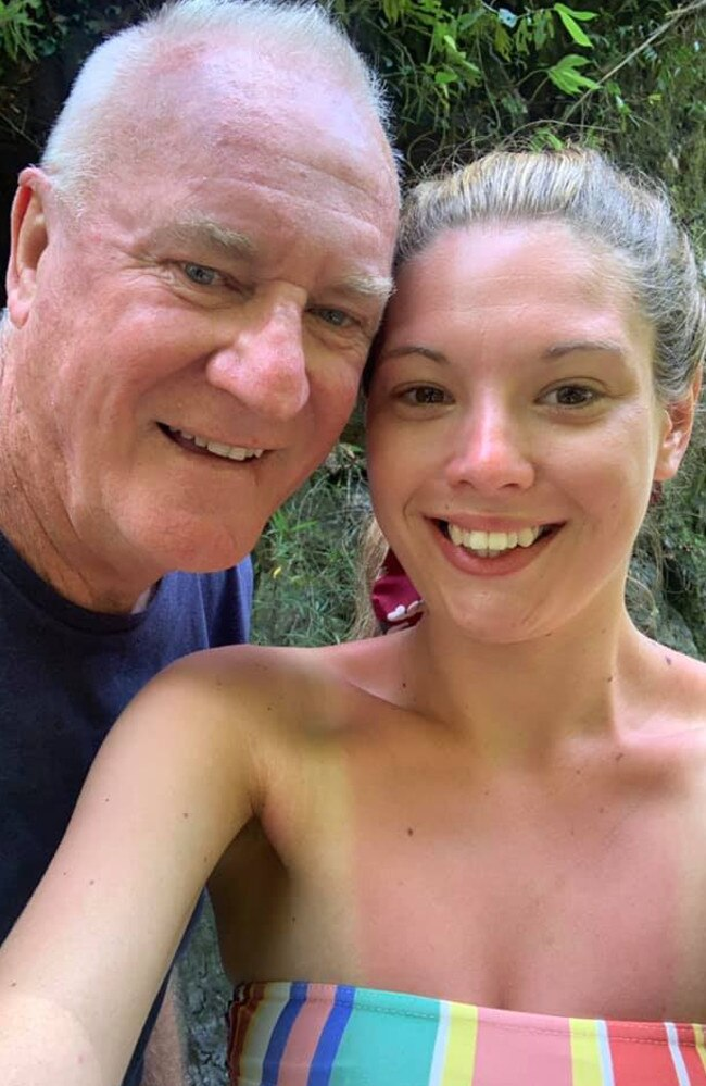 The pair have at least a 40-year age-gap and have been dating since March. Picture: Facebook / Ashleigh Petrie