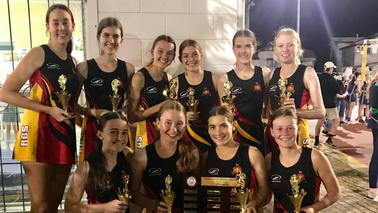 CHAMPIONS: The victorious RGS Storm team (back row, from left) Esther Bourke, Dominique Sleaford, Maddison Barsby, Nicola Scarpelli, Jacqueline Sleaford, Lucy Prentice and (front, from left) Sophie Smith, Faith Maynard, Ella Milfull and Lily Gray.