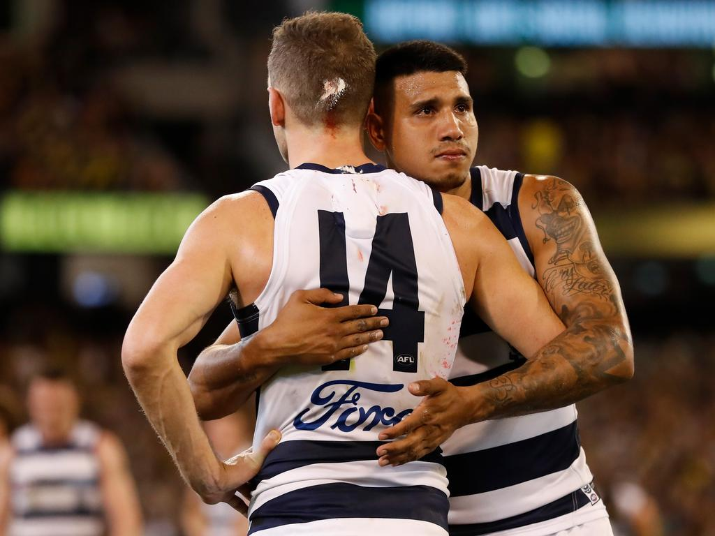 Tim Kelly is saying goodbye to the Cats. (Photo by Michael Willson/AFL Photos via Getty Images)