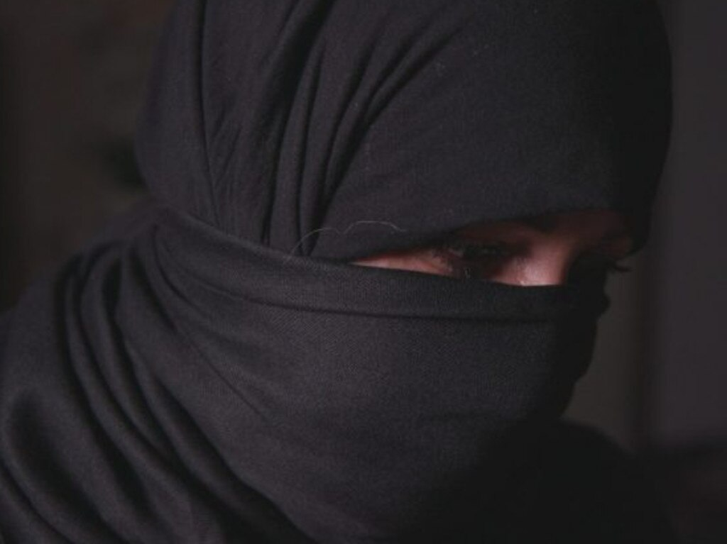 Reem, seen in the documentary, ended up in a 'pleasure marriage' after her husband died in an IS bombing. Picture: BBC Arabic