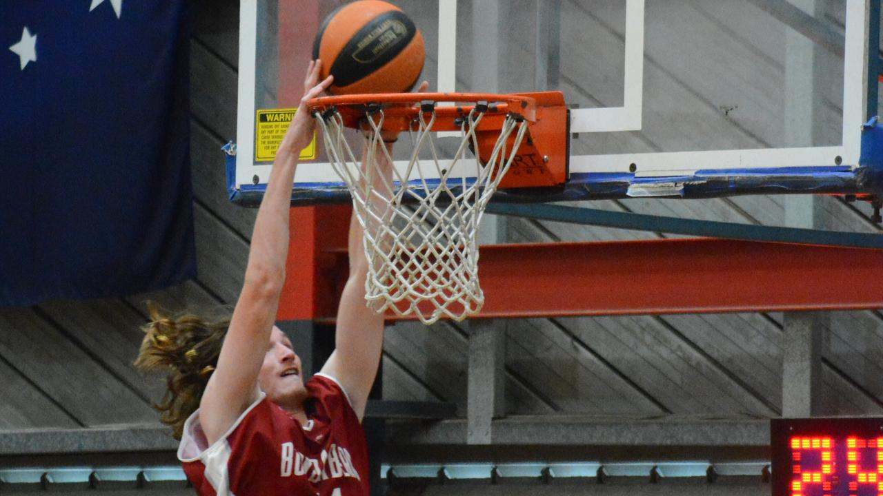 Bayley Liddell of Bundy dunks during the Central Districts Carnival.