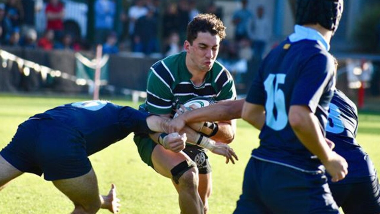 Brisbane Boys College skipper Jacob Blyton in action during the GPS rugby season.