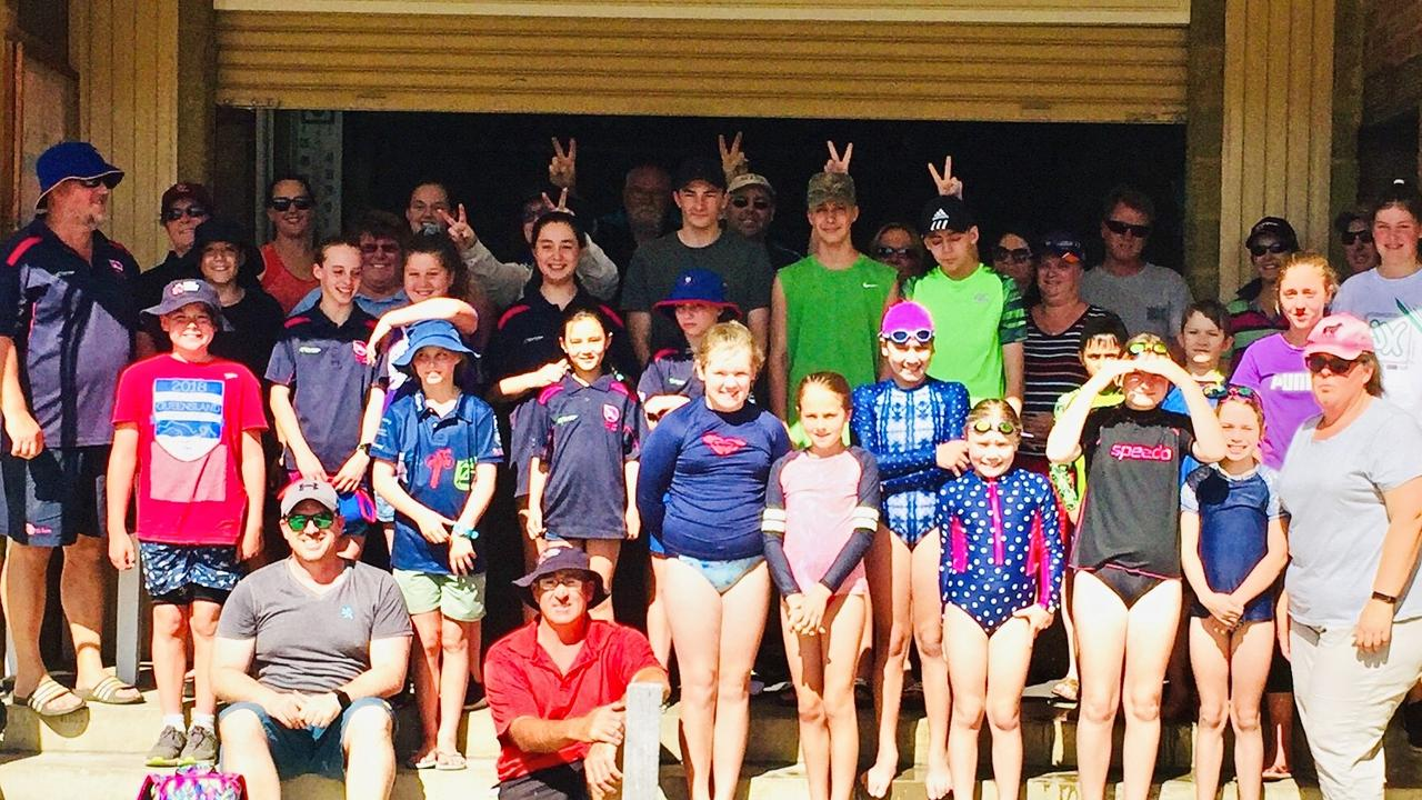 Swimmers and parents from both the Stanthorpe Swimming Club and Toowoomba's Turbo Jets Swimming Club.