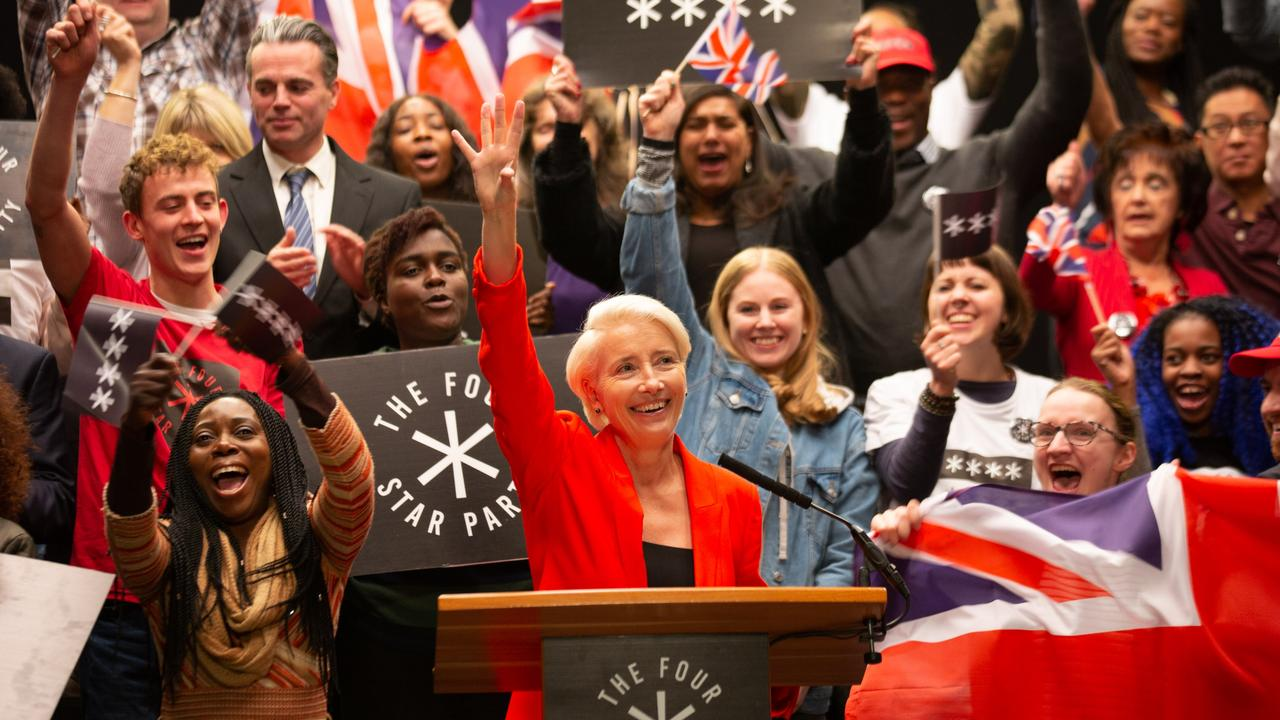 Emma Thompson plays Vivienne Rooke, a political novice who quickly rises the ranks. Picture: SBS