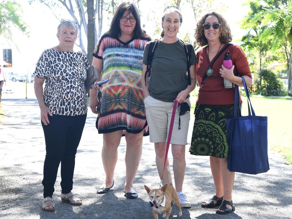 Lyn Laskus, Karen Wheatland, Sonny, Heather McIntosh and Jane Curley at the CAA birthday celebrations