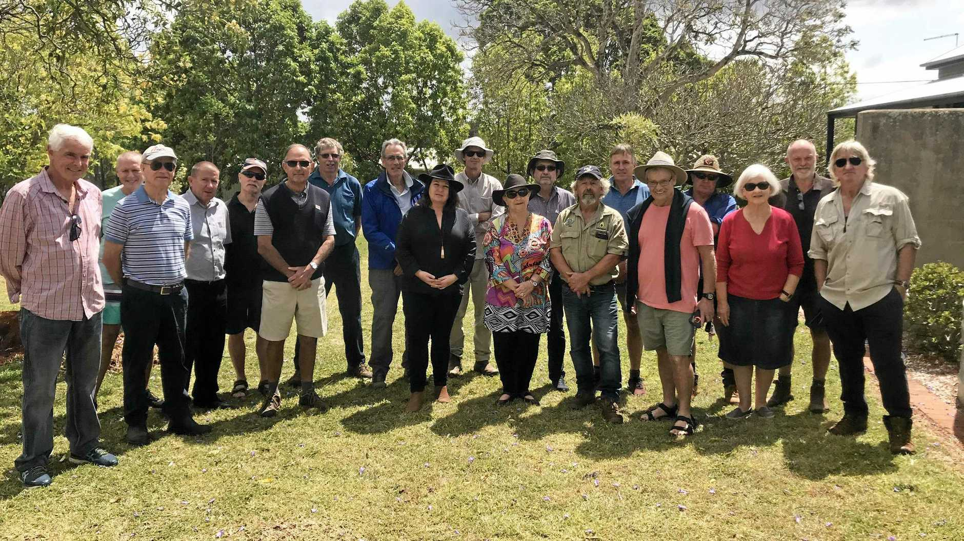 WATERWORKS: Ballina MP Tamara Smith meets with the Save Alstonville Aquifer group yesterday.