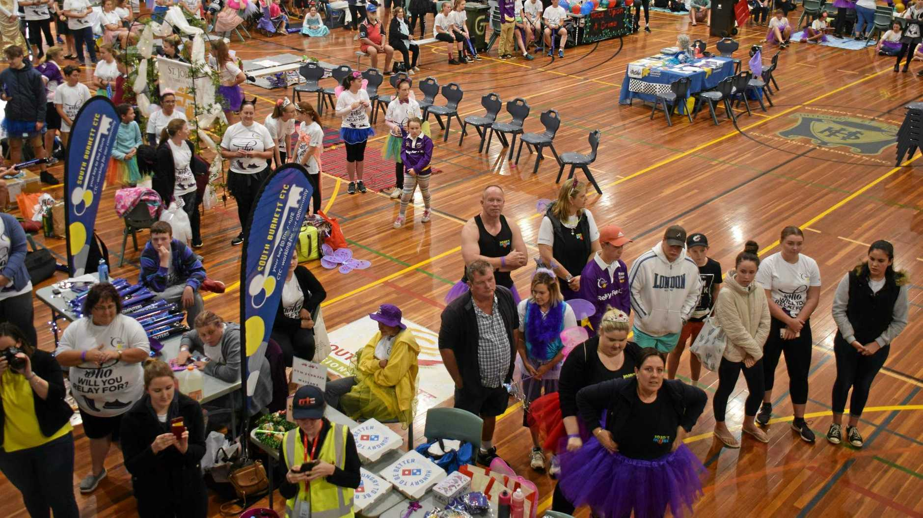 WET WEATHER PLAN: South Burnett Relay for Life was moved indoors to avoid the rain in 2018.