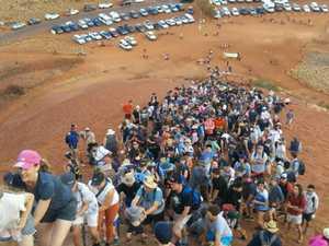 Hordes rush to climb Uluru